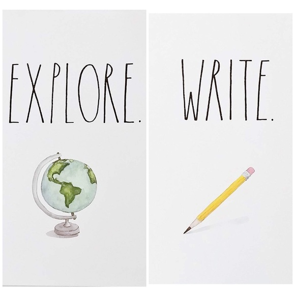 Rae Dunn Write & Explore Notebooks, Two 80 Page